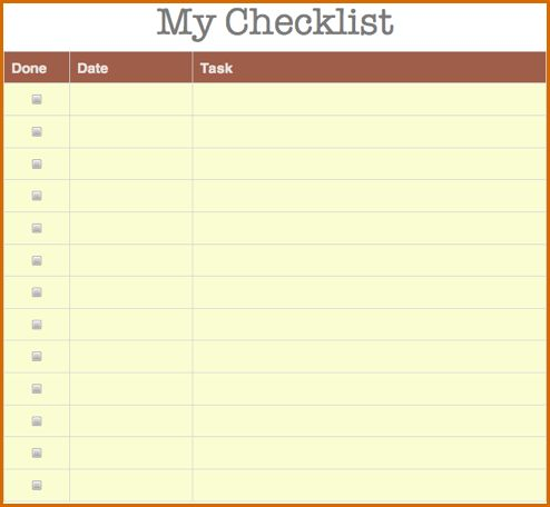8+ checklist template | Authorizationletters.org