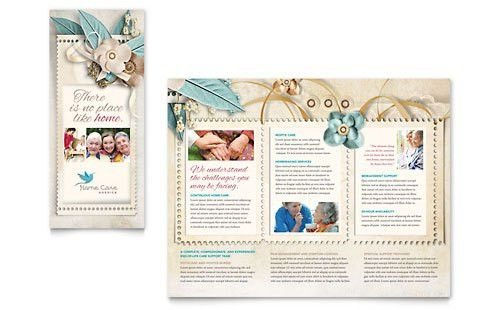Hospice & Home Care Tri Fold Brochure Template - Word & Publisher