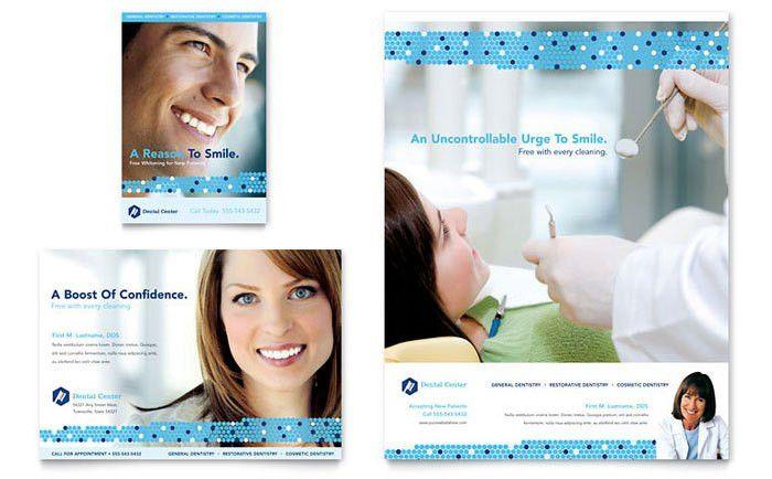 Dentistry & Dental Office Flyer & Ad Template Design