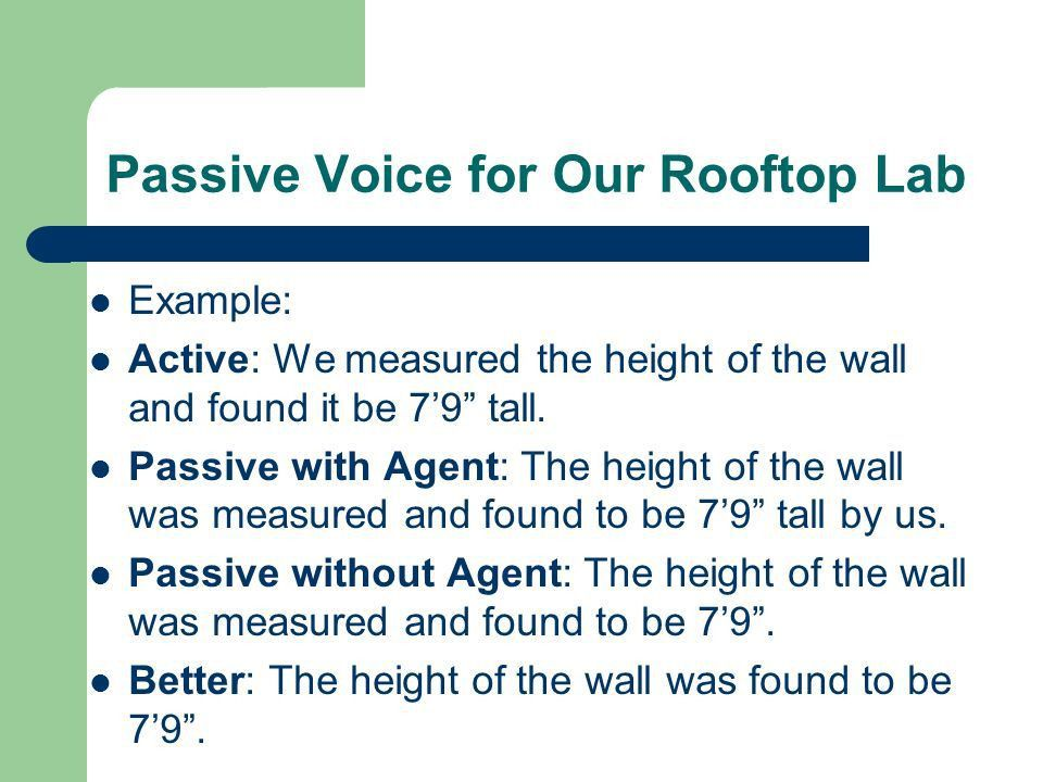 Using Passive Voice Correctly - ppt download