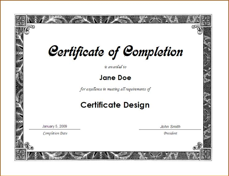 6+ certificate of training template | Outline Templates
