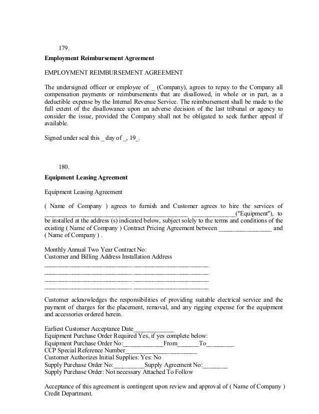 Agreement Letters. Very Truly,; 38 179 Employment Reimbursement .