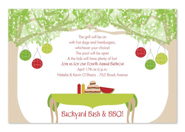Backyard party invitation wording | Outdoor furniture Design and Ideas