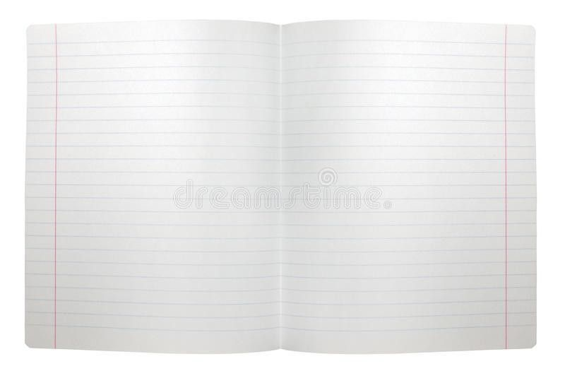 Spread Double Sheet Open Seamless Lined Note Paper Royalty Free ...