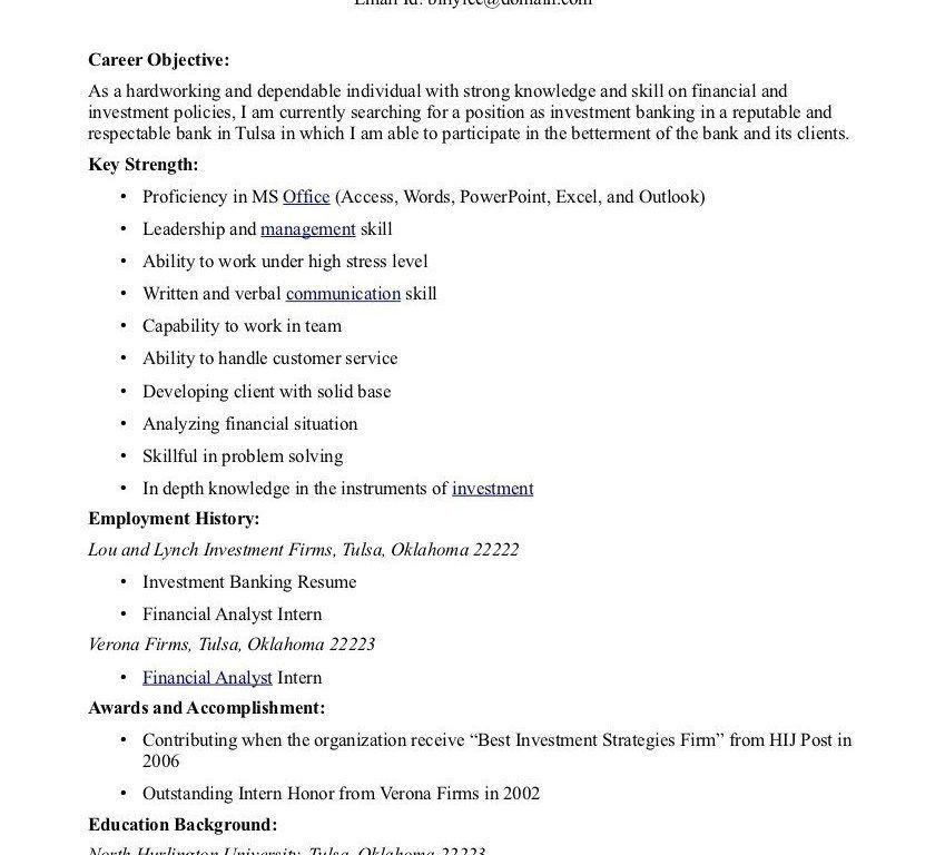 Lofty Good Objectives For Resume 7 Good Career Objective Resume ...