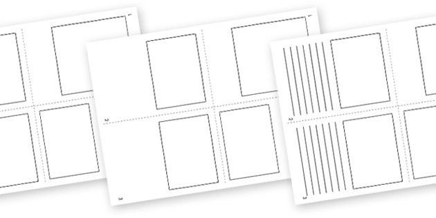 Mini Book Template (Blank) - mini book, booklet, template ...