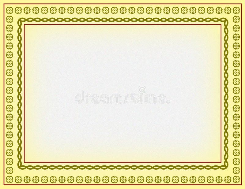 Certificate Border Royalty Free Stock Photography - Image: 6333547