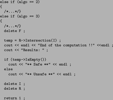Example of algorithm in BABYLON