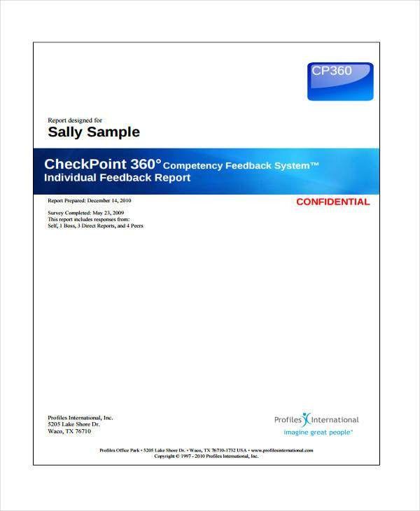 9+ Feedback Report Templates -Word, PDF | Free & Premium Templates