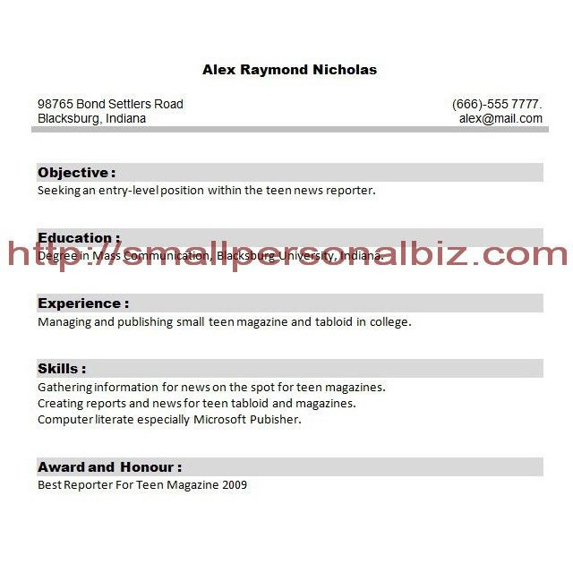 Sample Resume For College Students With No Experience | Free ...