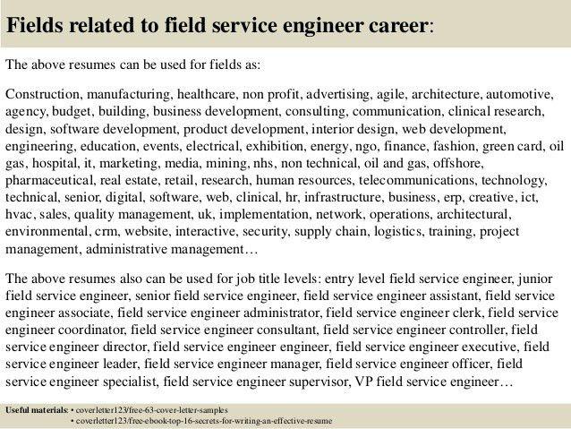 Download Field Service Engineer Sample Resume ...