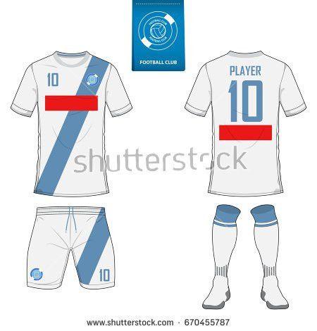 Set Soccer Jersey Football Kit Template Stock Vector 662219236 ...