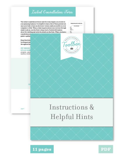 The Wedding Planner's Toolbox