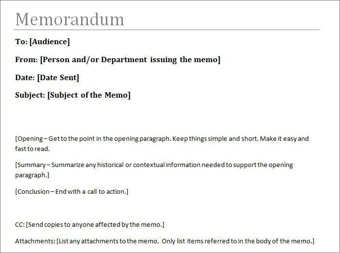 5+ Memo Templates - Free Sample, Example, Format | Free & Premium ...