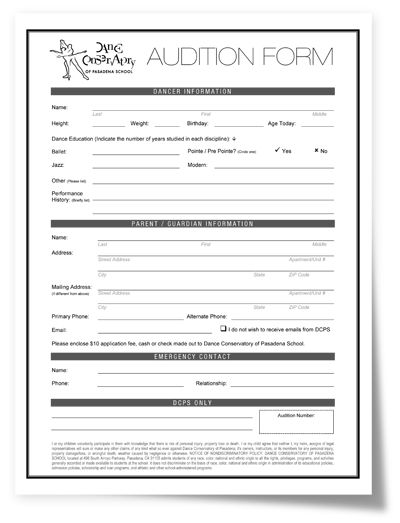 Scholarship - Dance Conservatory of Pasadena