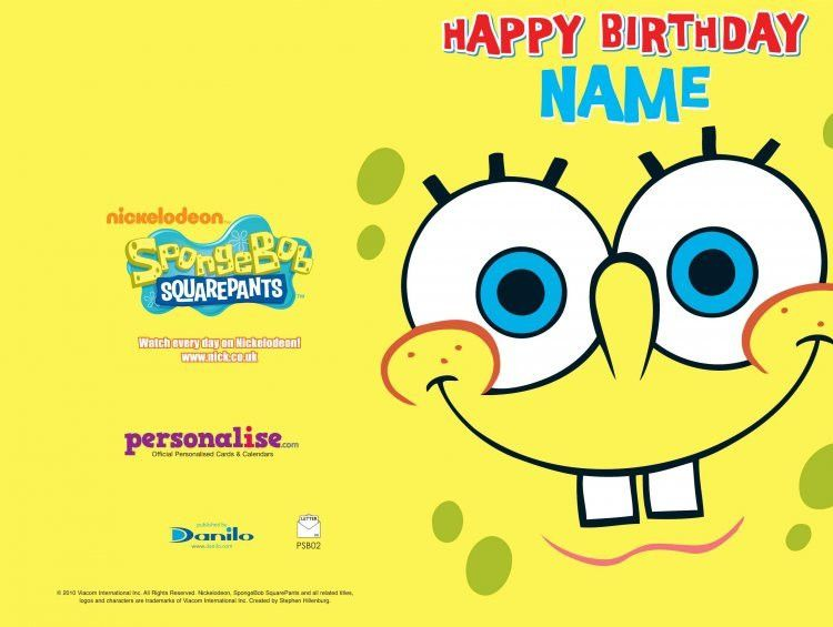 Card Invitation Design Ideas: Spongebob Printable Birthday Cards ...