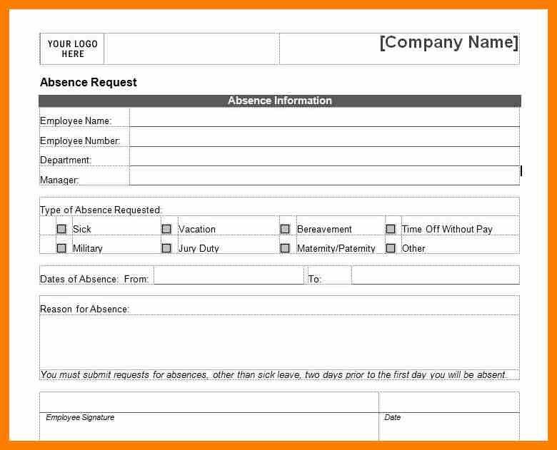 6+ sick leave form template | hostess resume
