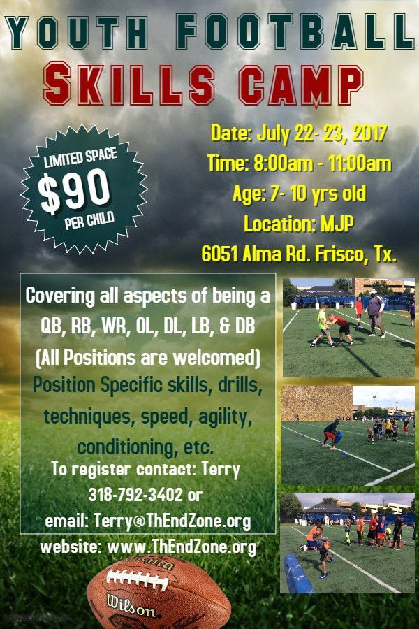 "Football Training & Skills Camp - ""ThEndZone"" Leagues, Camps ..."