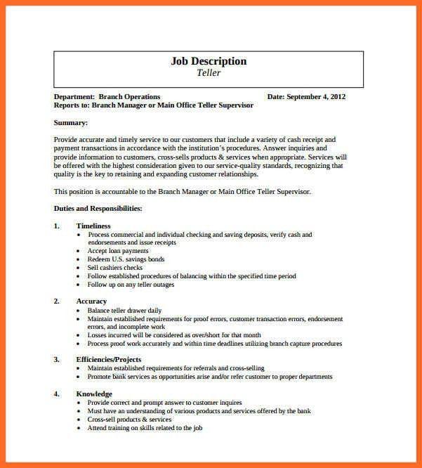 job description example | soap format
