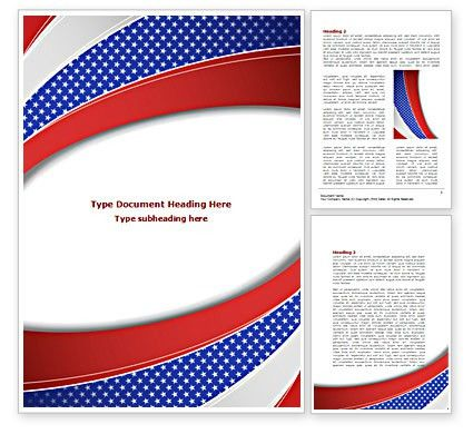 Elections Theme Word Template 08290 | PoweredTemplate.com