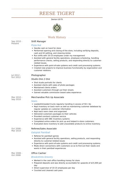 Vibrant Shift Manager Resume 14 Shift Manager Resume Samples ...