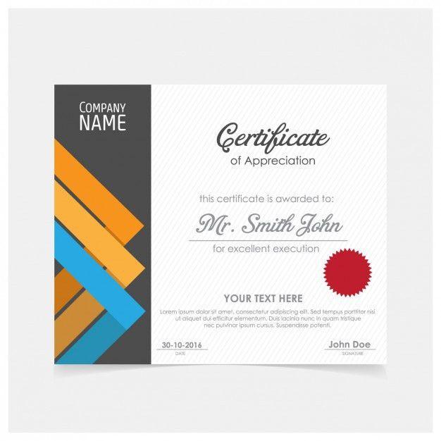 Elegant certificate design Vector | Free Download