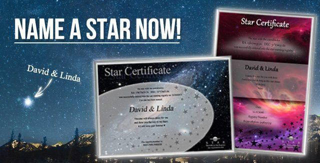 Name a Star - Includes Certificate & Registry