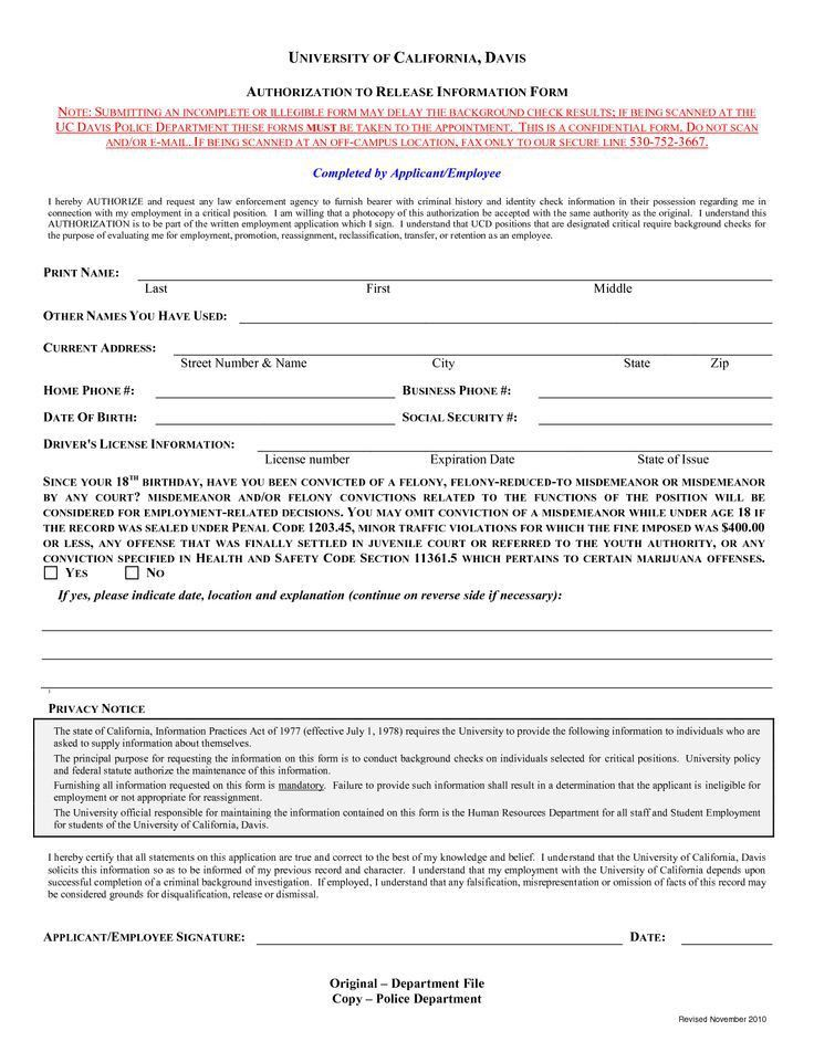 Check Authorization Form Template Check out this Background Check ...