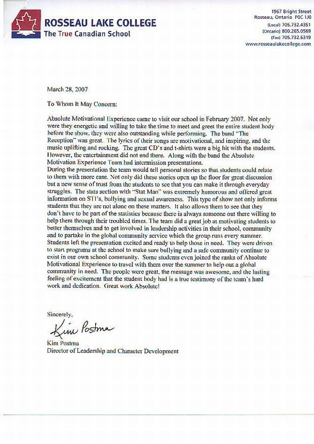 Student Recommendation Letter. Recommendation Letter Sample From ...
