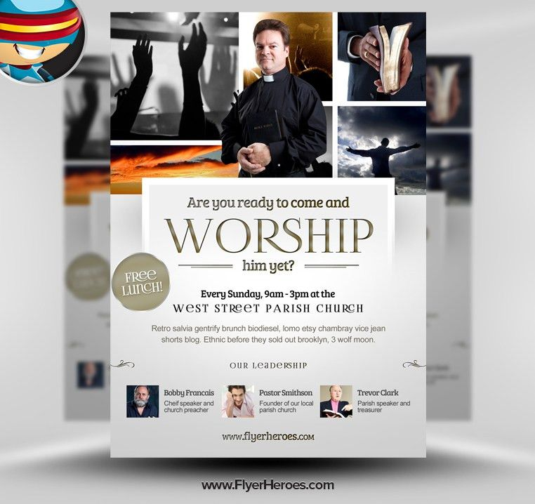 13 PSD Templates Flyers For Religious Images - Christian Church ...