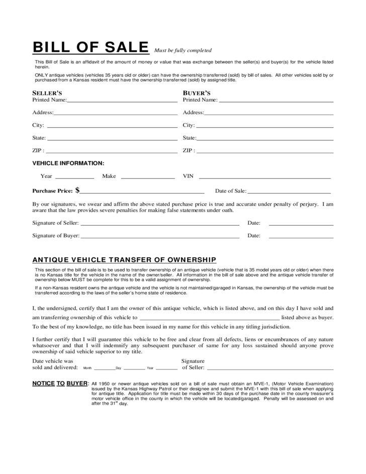 Affidavit of Fact Form - Kansas Free Download