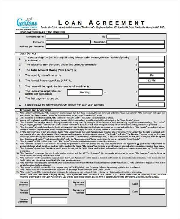 19+ Loan Agreement Form Templates | Free & Premium Templates