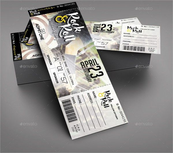Concert Tickets Design] 32 Excellent Ticket Design Samples ...
