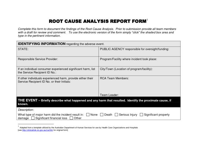 Free Editable Root Cause Analysis Report Template : Helloalive