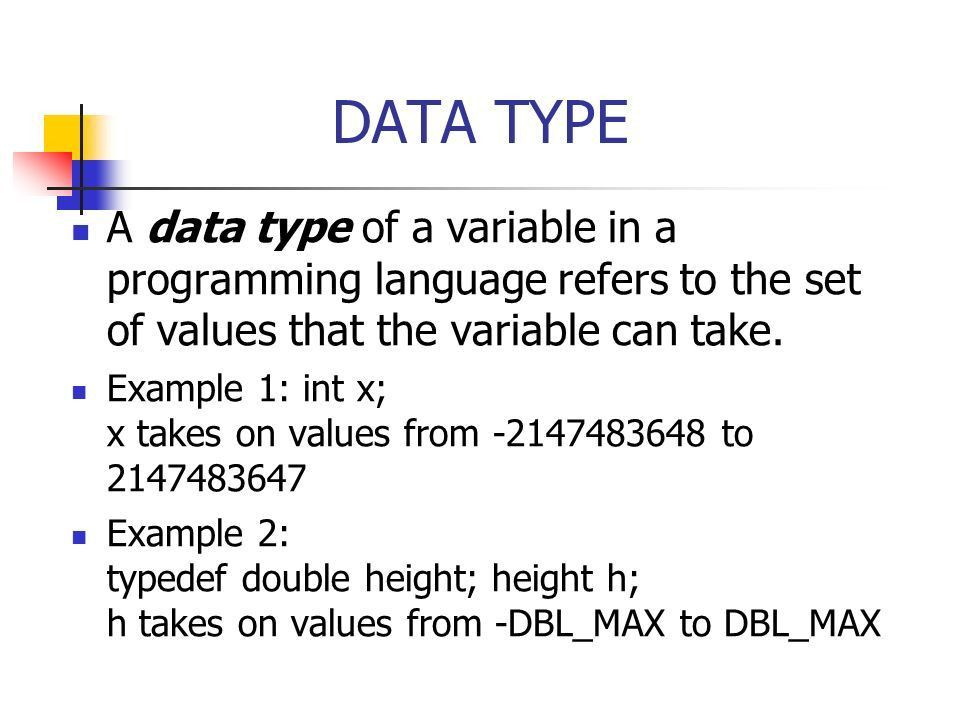 ABSTRACT DATA TYPES Data types, data structures, abstract data ...
