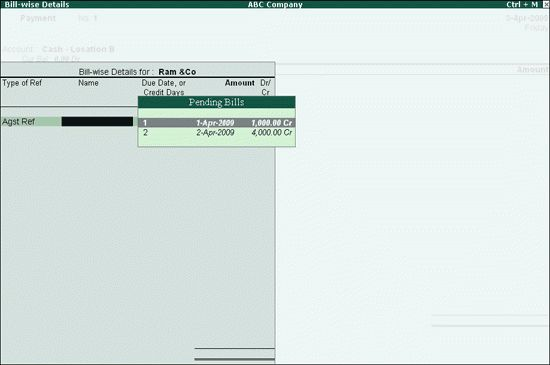 Pre-allocate Bills for Payment or Receipt in Tally ERP 9 - Tally ...