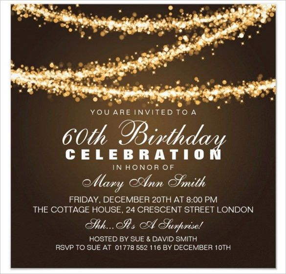 60th Birthday Invitations - cloveranddot.Com