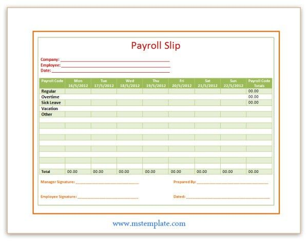 payroll check template