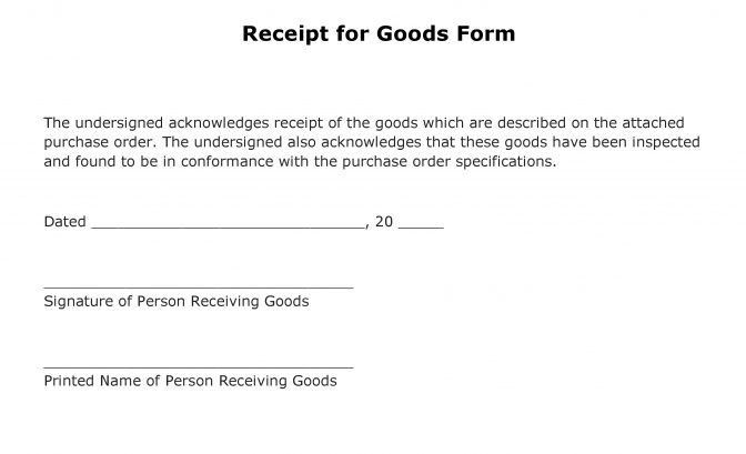 Acknowledgement Form Template Of Receipt 111 ~ Lotcos