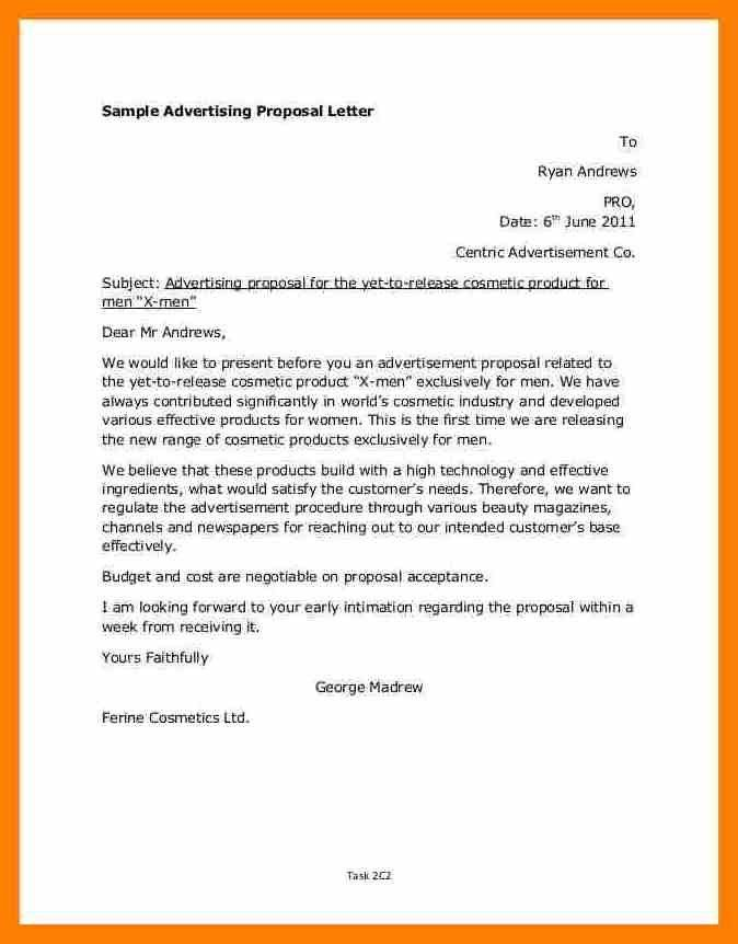 8+ advertising proposal letter sample | army memo format