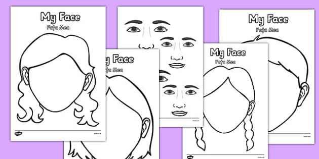 Blank Face Templates with Face Features Romanian Translation