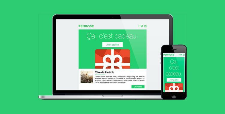 30 Free Responsive Email and Newsletter Templates