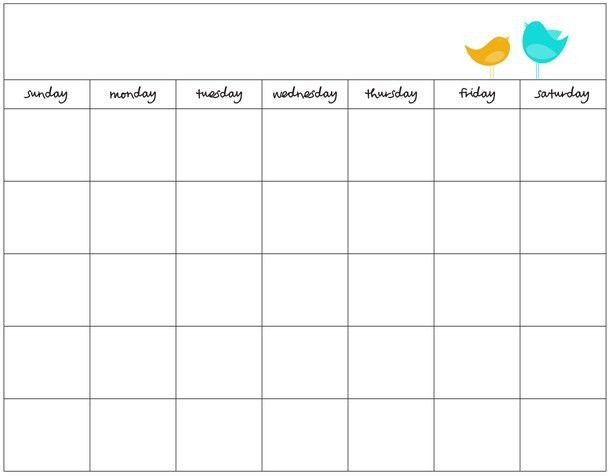 Blank Calendar Template. September 2017 Printable Calendar ...