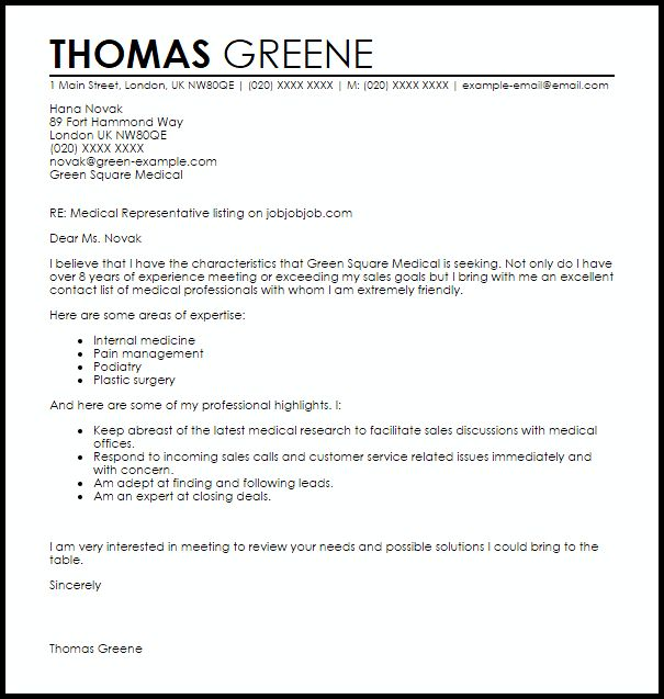 Name Sample of Retail Sales Representative Cover Letter for Resume ...