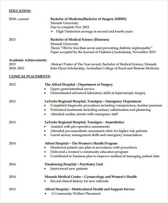 Doctor Resume Sample - Documents in PDF, PSD