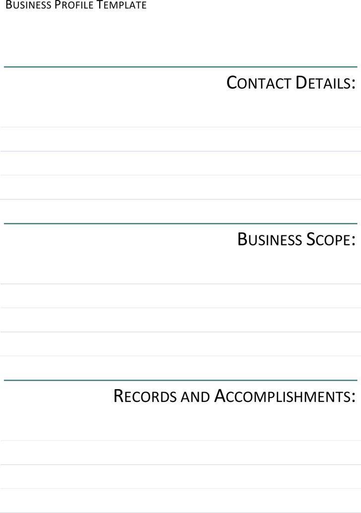 Business Profile Template - Template Free Download | Speedy Template