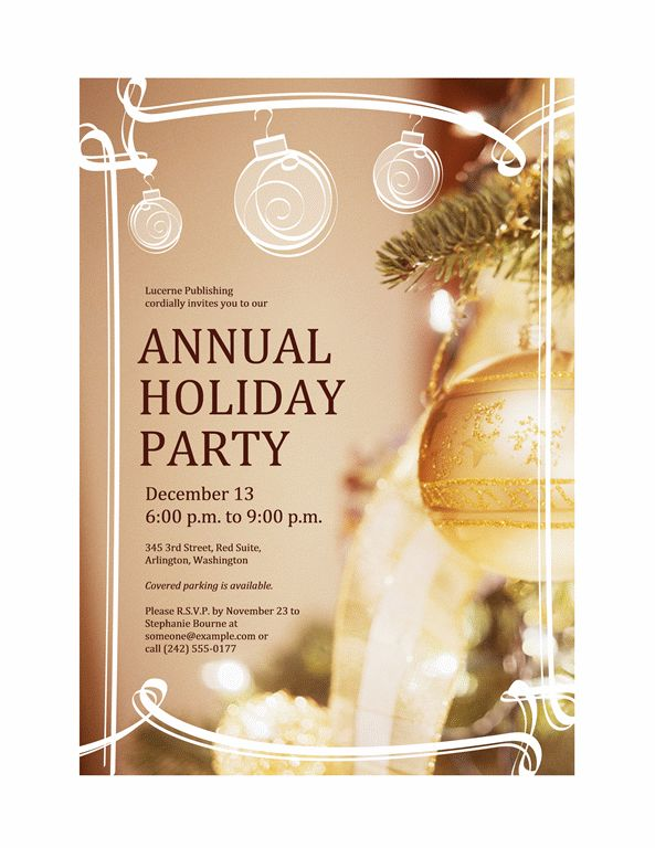 Download Free Printable Invitations of Holiday party invitation ...