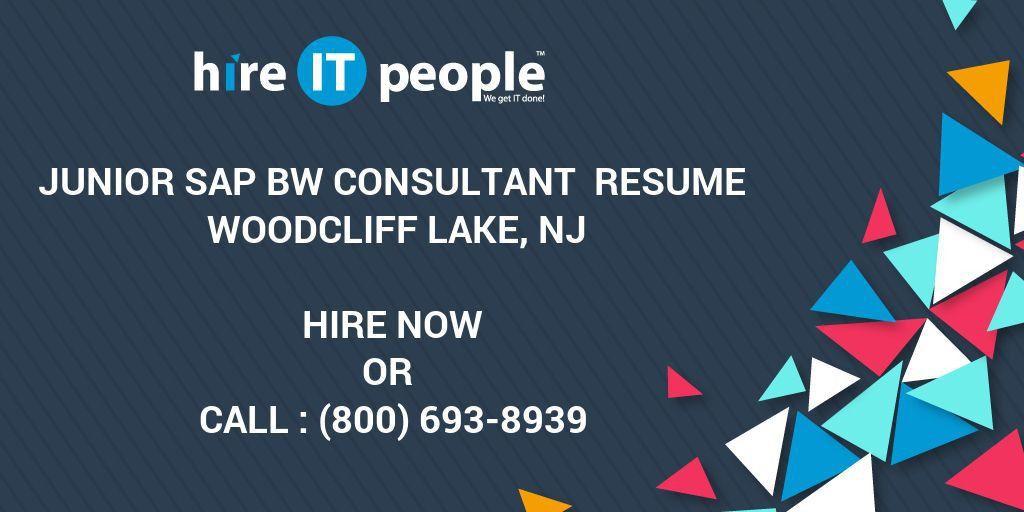Junior SAP BW Consultant Resume Woodcliff Lake, NJ - Hire IT ...
