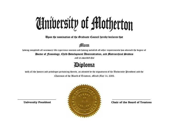 Funny gag diplomas templates and joke novelty degree & awards free