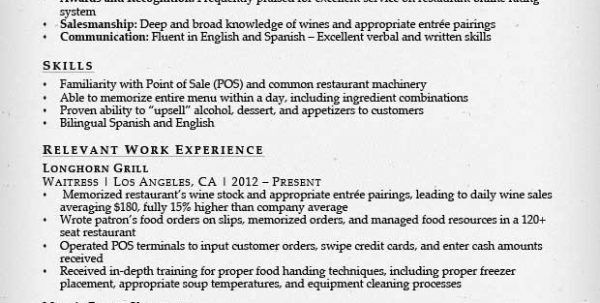 Server Resume Sample Waitress Resume Sample Waitress Resume Resume ...